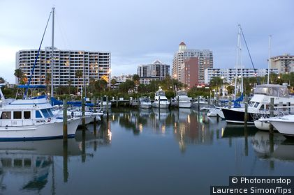 USA, Florida, Sarasota, the marina