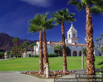 USA/California, Palm Springs. Palm Springs, church