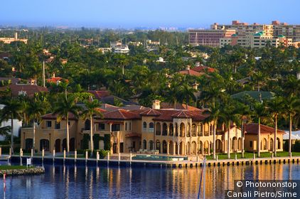 États-Unis, USA, Floride, Fort Lauderdale, Océan Atlantique - House on the canal