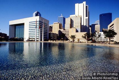 Usa, Texas, Dallas, downtown and the city hall