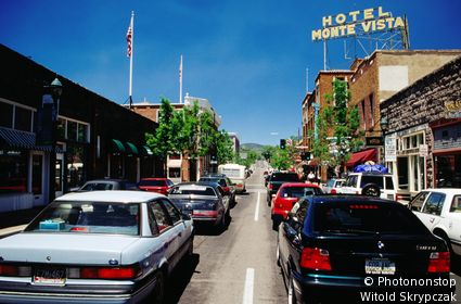 Traffic, San Francisco Street. Flagstaff, Arizona, United States of America