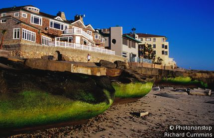 Beach houses at La Jolla. San Diego, California, United States of America