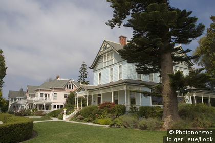 Victorian Houses, Santa Cruz, California, USA