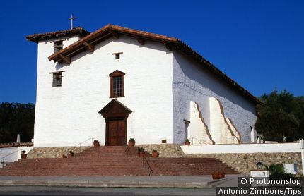 Mission San Jose, church facade. Fremont, California, United States of America