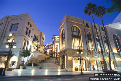 Wilshire Boulevard, Rodeo Drive, Beverly Hills, Los Angeles, USA