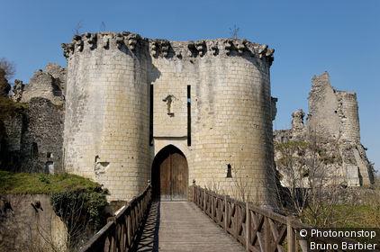 Vallée du Loir, Lavardin (inscrit aux Plus Beaux Village de France), restes du château
