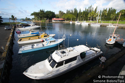 Usa, Hawaii, Big Island, Hilo, fishing harbour