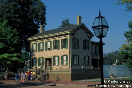 USA, Illinois, Springfield: Lincoln's home