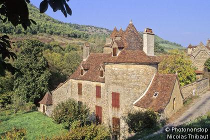 Autoire, maison du village (Plus Beaux Villages de France)