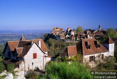 Loubressac, vue générale du village