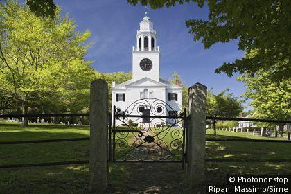 États-Unis, USA, Massachusetts, Lenox, Berkshires - Church on the hill