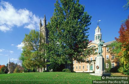 USA Massachusetts, Williamstown, Griffin Hall and Thompson Memorial chapel
