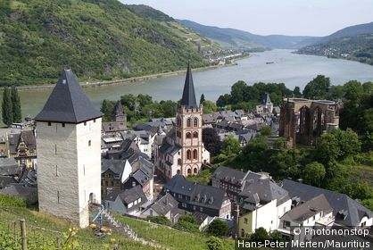 Germany, Rhineland-Palatinate, Rhine-valley, Bacharach, place-opinion, steeple