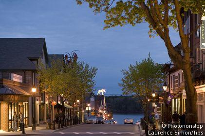 USA, Maine, Bar Harbor, the Main Street