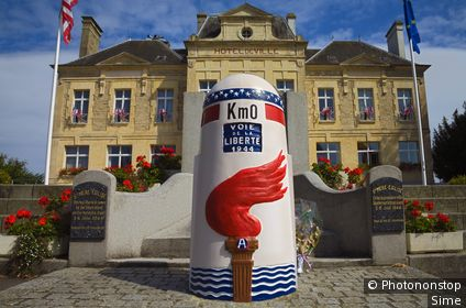 France, Normandie, Sainte-Mère-Église, Manche, Basse-Normandie - 'Km0', First town to be liberated from the D-Day battle