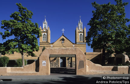 Usa, New Mexico, Albuquerque, San Felipe de Neri church