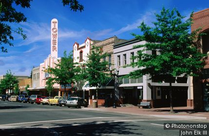 Downtown street scene. Bend, Oregon, United States of America