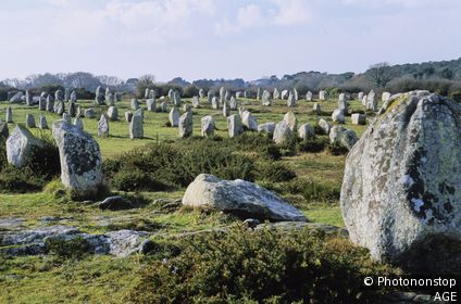 Carnac, alignement de dolmens
