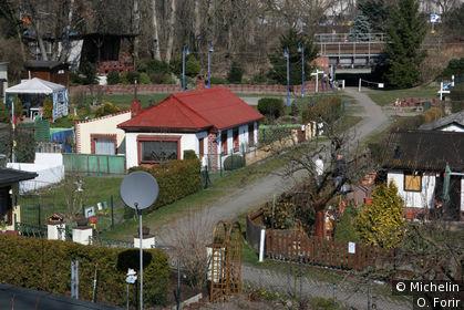 Une cité-jardin ouvrière sur Furstenbrunner weg.