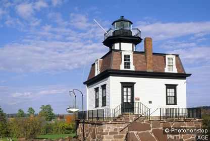 USA, Vermont, Shelburne museum, Colchester Reef Light