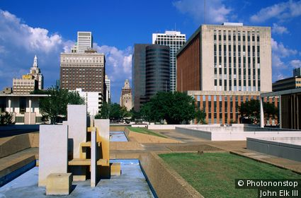 Civic Center Plaza, Downtown. Tulsa, Oklahoma, United States of America