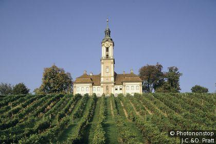 Allemagne, Bade-Wurtemberg, Birnau, vue générale de basilique (XVIIIe siècle)