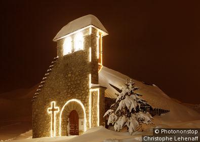 65. Chapelle de La Mongie sous la neige
