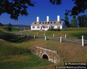 Canada, Nova Scotia, Evangeline Trail, Fort Anne National Historic Site in Annapolis Royal