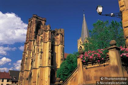 France, Haut-Rhin (68), Alsace,Rouffach, eglise Notre-Dame de l'Assomption.