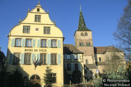 Turckheim, hotel de ville et église