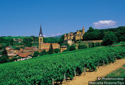 France, Rhône (69), Rhône Alpes, Jarnioux, village du Beaujolais