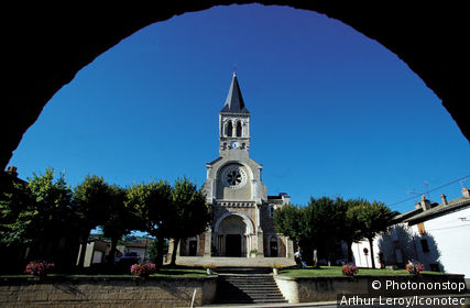 France, Rhône (69), Rhône Alpes, église de Julienas