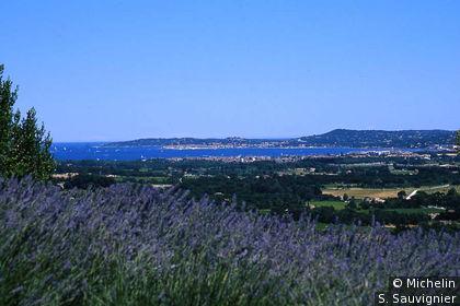 Vue golfe de Saint-Tropez