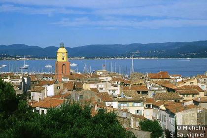 La ville et le golfe de Saint-Tropez