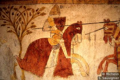 Tour Ferrande, fresque du 13e S.