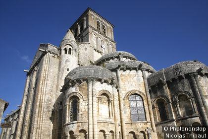 Chauvigny, collegiale Saint Pierre, le chevet