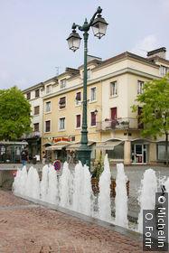 Sur la place des Vosges.