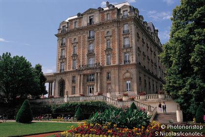 France, Vosges, (88), Lorraine, Vittel, parc du Grand Hôtel.