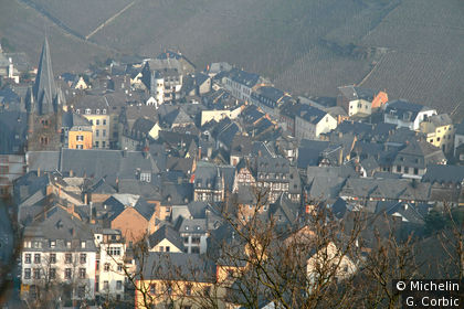 vue sur les toits depuis la Burg