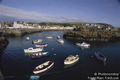 Historic harbour village of Portpatrick, Stranraer, Dumfries and Galloway, Scotland