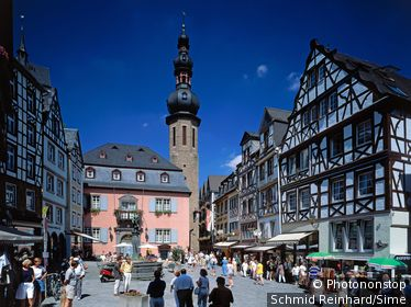 Allemagne, Rhénanie Palatinat, Cochem, Marktplatz in Cochem on the Mosel River