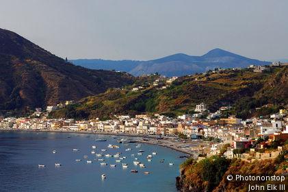 Italy, Sicily, Lipari island, Canneto village.