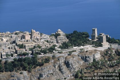 Aerial view of Erice