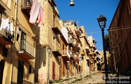 Italy, Sicily, Termini Imerese, Via Roma.