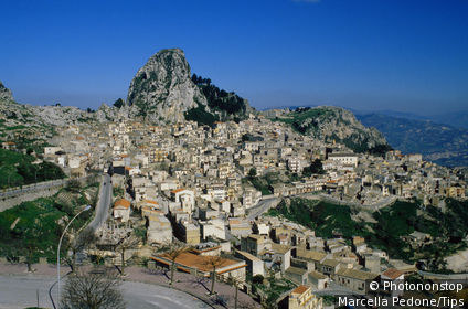 Sicily, Caltabellotta, view of the town