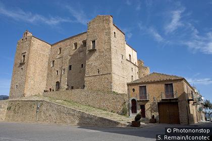 Italie, Sicile, Castelbuono, le vieux château