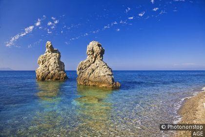 Italie, Sicile, Patti, Zone Méditerranéenne, Province de Messina - Mongiove beach