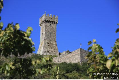 Italie, Toscane, province de Sienne, Radicofani, tour