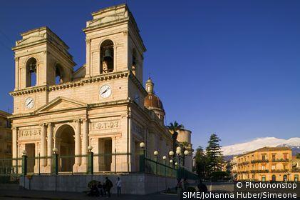 Italie;Sicile;Catane - Italy, Italia, Sicily, Sicilia, Catania, Giarre village, cathedral