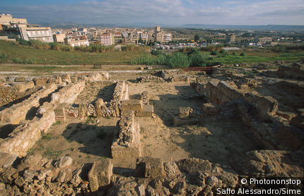 Italy, Sicily, Gela, greek ruins